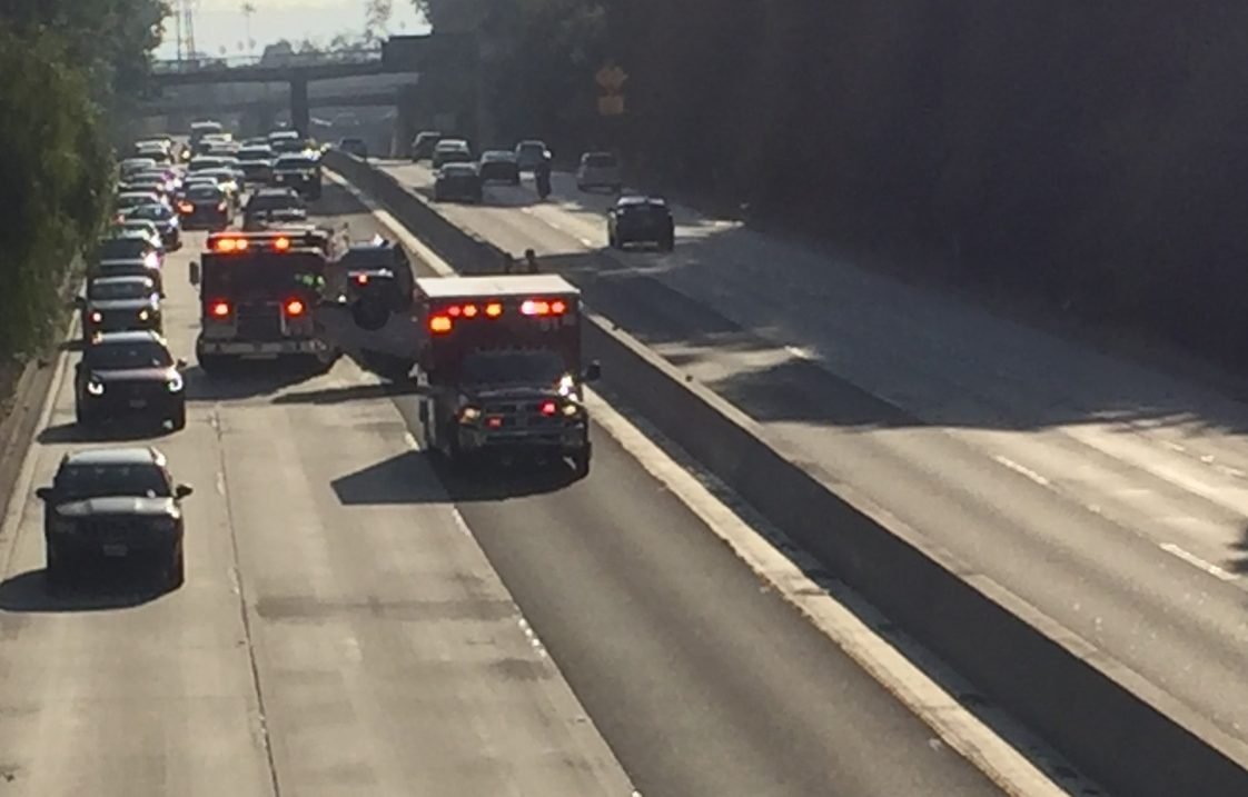 Car Overturned on 110 Fwy  | South Pasadena News | The South