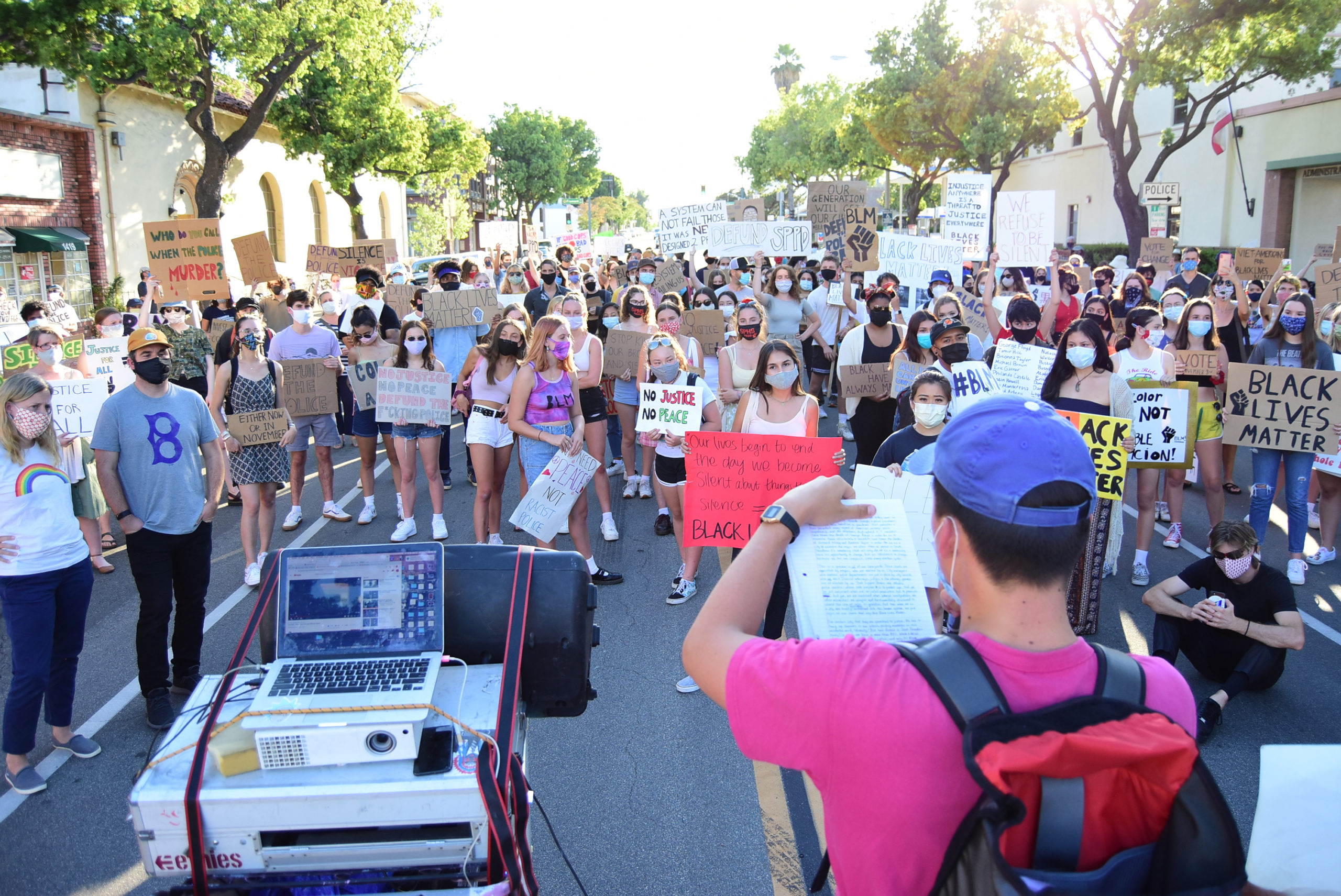south-pasadena-news-06-12-2020-blm-black-lives-matter-sp-youth-for-police-reform-protest-city-hall-mission-st-06