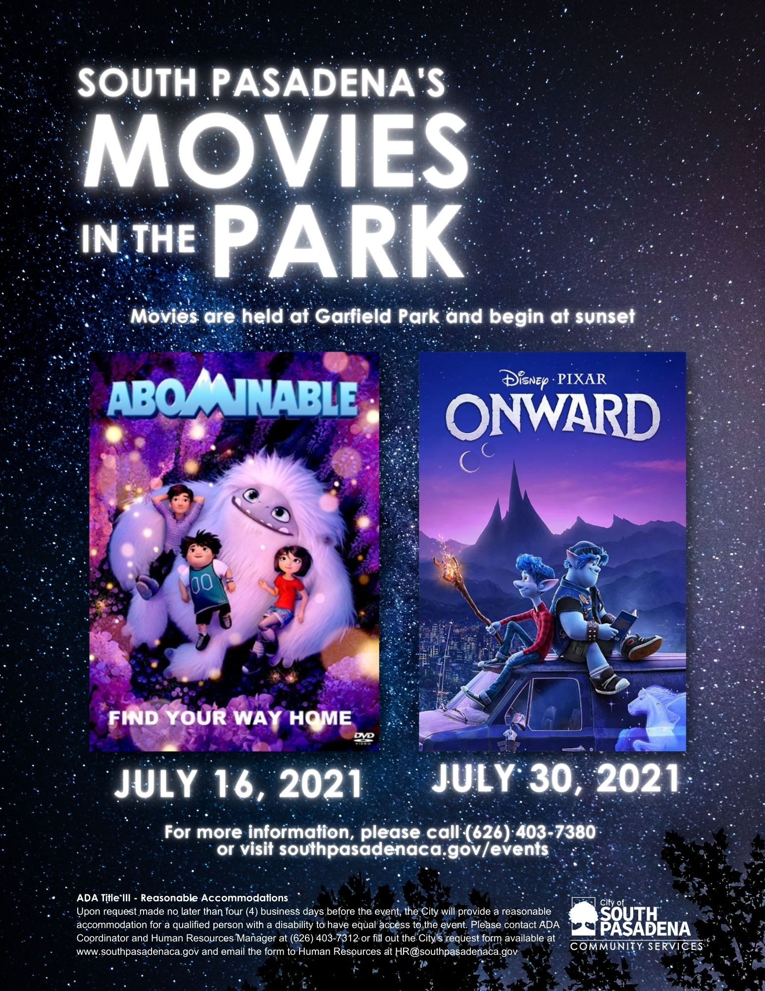 south-pasadena-news-07-09-2021-arts-are-essential-Movies in the Park
